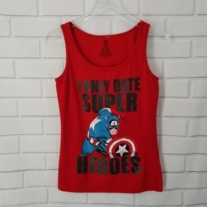 Red MARVEL Tank Top. Size M.
